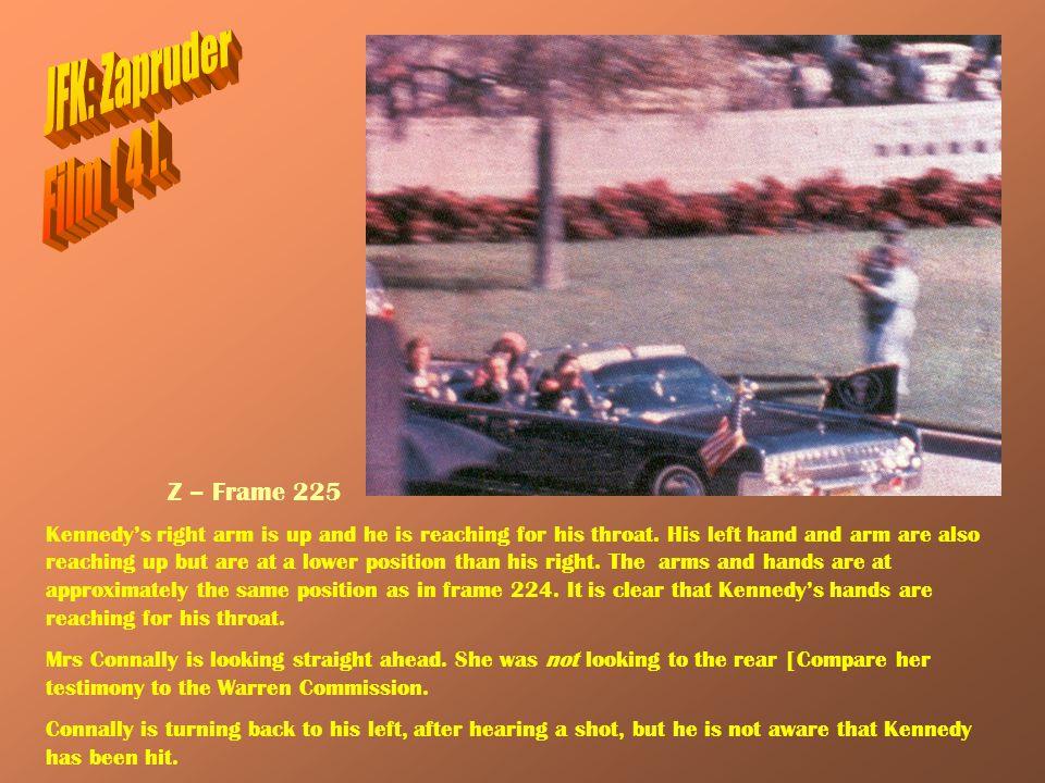 JFK: Zapruder Film [ 4 ]. Z – Frame 225